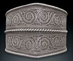 Nepalese Sterling Silver Filigree Cuff