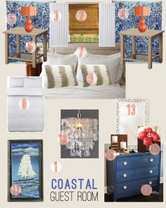 Braelin's Beachy on a Budget Mood Board - Chris Loves Julia Basement Colors, Chris Loves Julia, Small Windows, Color Inspiration, Bedroom Inspiration, Guest Room, Paint Colors, Budgeting, House Design