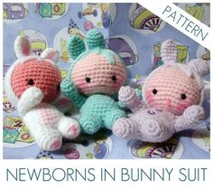 Amigurumi baby in bunny suit-would be a great 1st baby doll!