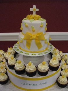 1st Communion. I like the yellow instead of usual pink/blue.