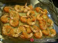 An easy and tasty way to cook shrimps. Ways To Cook Shrimp, Baked Shrimp, Greek Cooking, Recipe Sites, Recipe Images, Greek Recipes, Healthy Alternatives, Seafood, Paleo
