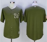 Washington Nationals Blank Green Camo New Cool Base Stitched MLB Jersey