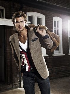 Love the v neck with the blazer and cardigan. Different, but very nice.