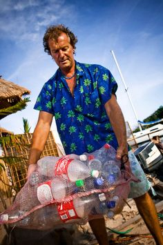 Make your own plastic bottle island.
