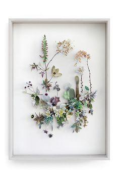 Flower construction #86 (w:50 h:70 d:6.5 cm)