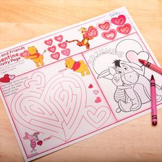 Pooh & Friends Valentine Activity Page    Let even the youngest Valentines know how much you love them.