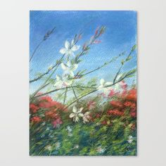 2bd3a825b4 Wildflowers - blue horizon by Alla Gorelik Framed Art Prints