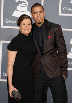 J. Cole at the 2012 Grammy Awards red carpet