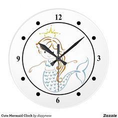 Cute Mermaid Clock