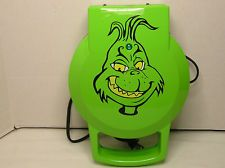 """Dr. Seuss """"GRINCH WAFFLE MAKER""""  Whoville Swirls...Great Fun For Holidays!"""
