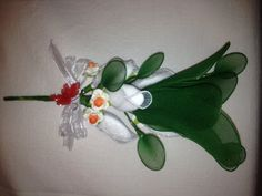 Nylon Stocking Flower Favour by youcraftymare on Etsy, $13.65