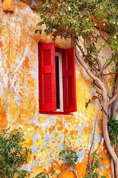 all the beauty things. Old Windows, Windows And Doors, Beautiful Places, Beautiful Pictures, Window Shutters, Window View, Old Doors, French Country Style, Doorway