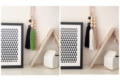 SET OF 3 Giant Tassel Drops on Leather Minimalist Scandi Boho Hanging Copper Wall Hanging Empty Wall Spaces, Copper Wall, Wooden Beads, Girl Room, Tassels, My Design, Minimalist, Trending Outfits, Wall Hangings