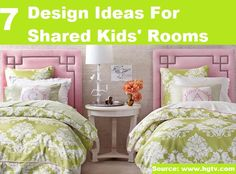 7 Design Ideas For Shared Kids Bedrooms...For more creative tips and ideas FOLLOW https://www.facebook.com/homeandlifetips