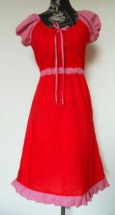 Tunika Kleid Hänger Karo rot von Zellmann Fashion auf DaWanda.com
