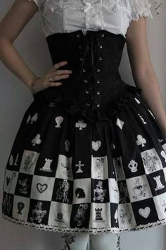 I love this alice in wonderland style corset skirt