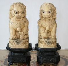 Incredible pair of Chinese majestic carved by TheLostTreasure, $2100.00