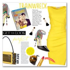 """Trainwreck"" by einn-enna ❤ liked on Polyvore featuring Emilio Pucci, Sophia Webster, Toga, Garance Doré, Lipstick Queen, Topshop, GetTheLook and trainwreck"