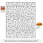 Free Thanksgiving Maze. A fun activity to fill up some time around the Thanksgiving holiday. Answer key included. Enjoy! - HappyEdugator  This work...