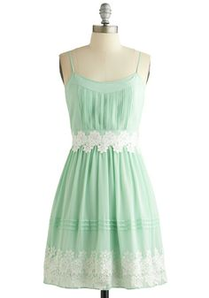 Trying to track down this bridesmaids dress!  Life is But a Gleam Dress in Mint, #ModCloth
