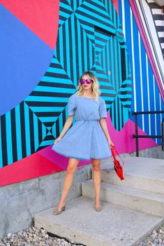 Trending in 2020: puff-sleeve denim dress! affordable fashion trends, outfit of the day #style #fashion #ootd #outfits Hand Painted Walls, Style Fashion, Fashion Trends, Affordable Fashion, Lifestyle Blog, Outfit Of The Day, Personal Style, Ootd, Denim