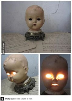 Recycled Lamp This just scares the hell out of me!