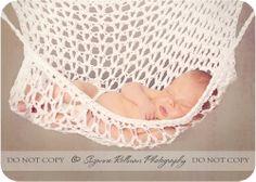 Crochet PATTERN Baby Hammock for Photo Prop Only. $4.99, via Etsy.