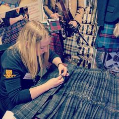 Our kiltmaker Karen showing off the traditional techniques taught by the Edinburgh Kiltmakers Academy at the Edinburgh Wedding Fair, Wedding Fair, Keep It Real, Kilts, Edinburgh, Scotland, Traditional, Sewing, Couture, Sew