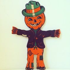 Vintage JOL Scarecrow diecut