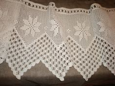 Vintage Crochet Curtain Panel Long Crochet Panel by OLaLaVintage