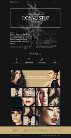 Royalistic is creative and luxury style responsive multipurpose #WordPress theme for stunning #beauty #agency website with 25+ niche homepage layouts download now➩ https://themeforest.net/item/royalistic-creative-multipurpose-wordpress-theme/19567791?ref=Datasata