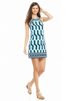 crown & ivy™ Pieced Halter Dress