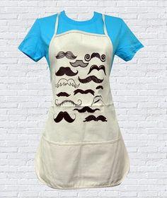 Mustache Apron