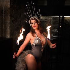 #diamond #headdress #glamourous #headpiece #fireperformer available at my #etsy #store https://www.etsy.com/shop/VprojectCrafts #vprojectgr
