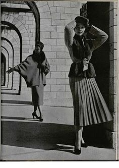 1940's Fashion - Womens Dress Style after the War | Glamourdaze