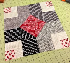 Want it, Need it, Quilt! Aurifil Chain Links 12 inch block