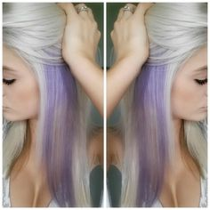 maybe just dye an underneath part? My #whiteblonde and #lilachair