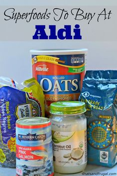 Superfoods are all the rage right now, but most can be pretty pricey. Here are some affordable superfoods to buy at Aldi.  #grocerybudget #food #superfood #tip #frugal