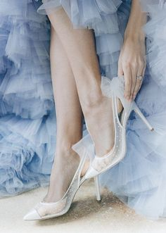 Polka Dot Pumps, Tulle Bows, Embellished Shoes, Blue Party, Comfortable Heels, Wedding Heels, Matilda, Your Shoes, Low Heels