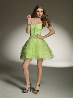 A-line Sweetheart Beaded Tulle short prom Dresses PD10359 www.dresseshouse.co.uk £82.0000
