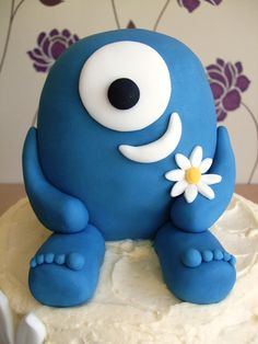 """""""The oh so cute centrepiece Cyclops cake, which reminds me of Uglydolls mixed with Monsters Inc."""" - exactly what idea I'm looking for"""