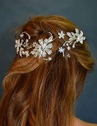 Valeria - Beautiful swarovski crystal vine headpiece - SALE