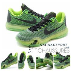 Nike Kobe Bryant 10 | Nouvelle Chaussure De Basket Homme Mesh Vert-2