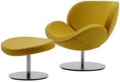 Modern Armchairs - Contemporary Armchairs - BoConcept. Schelly with footstool. Hate the color but the chair is so comfy and color and material can be customized!