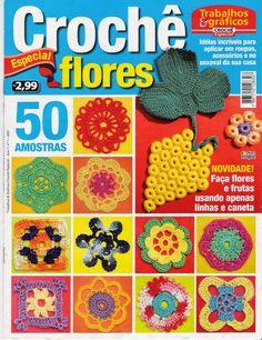 Revistas de manualidades Gratis: flores crochet