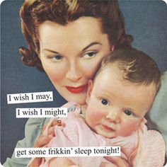 Magnets from Anne Taintor: I wish I may, I wish I might, get some frikkin' sleep tonight!