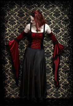 Lucilla Long Bell Sleeve Velvet Gloves or Arm Warmers - Custom Elegant Gothic Clothing and Dark Romantic Couture from rosemortem on Etsy. Gothic Girls, Bell Sleeve Dress, Bell Sleeves, Stilettos, Dress Outfits, Dress Up, Romantic Goth, Gothic Tops, Gothic Outfits