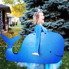 DIY whale Halloween costume