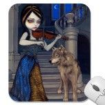 """Wolf Song"" Mousepad by strangeling  Jasmine Becket-Griffith"