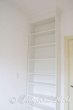 IKEA billy bookcase hack - detailed instructions. This was what I was thinking would work